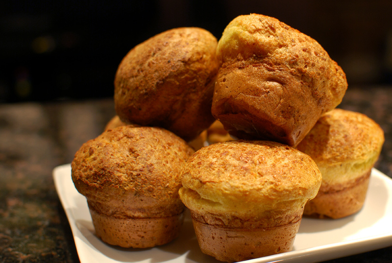 Cumin Curry Popovers | A Bread A Day