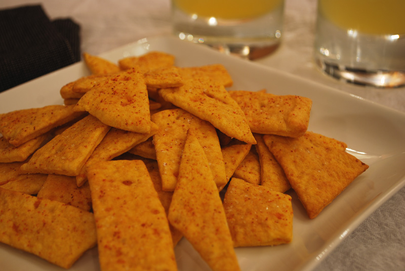 sweet potato crackers with cayenne